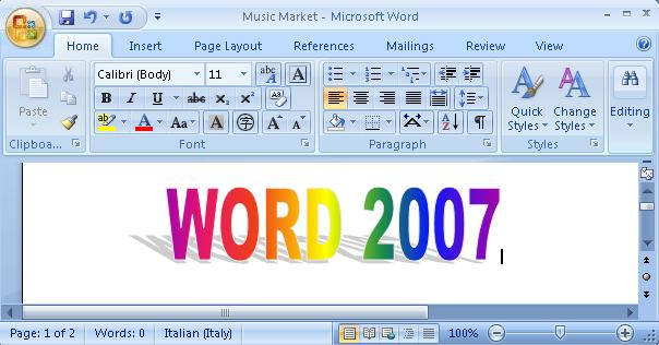 microsoft word 2007 writing a letter