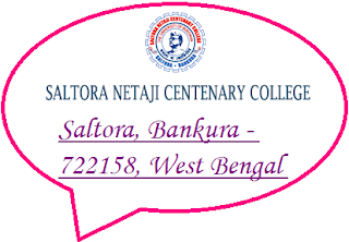 Saltora Netaji Centenary College, Saltora, Bankura - 722158, West Bengal