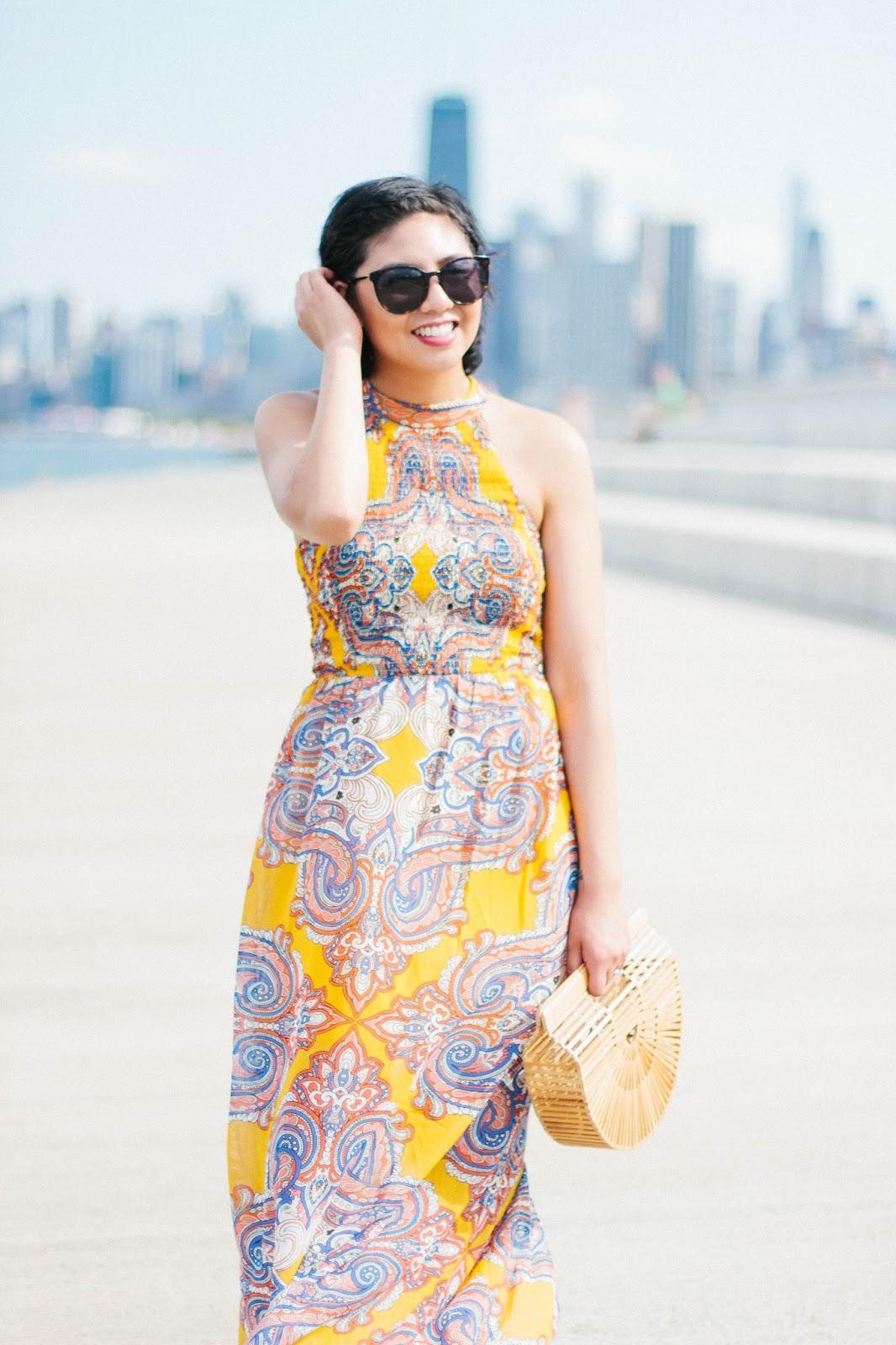 Shopping at T.J. Maxx and found a paisley print maxi dress