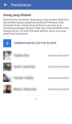 Buka Blokir di Facebook