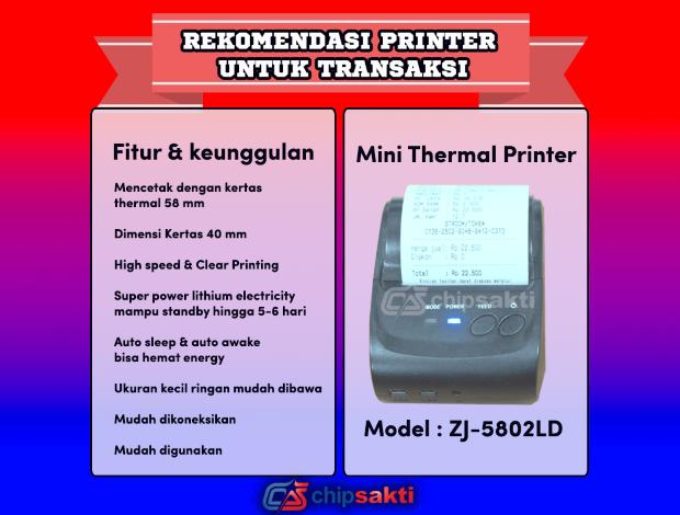 Printer Thermal Bluetooth Terbaik Untuk Cetak Struk Pulsa dan PPOB