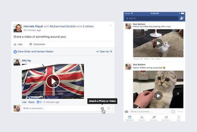 Komentar Facebook Saat Ini Mendukung Upload Video