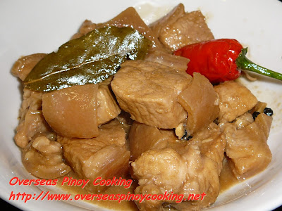 Adobong Baboy sa Gata, Pork Adobo in Coconut Milk