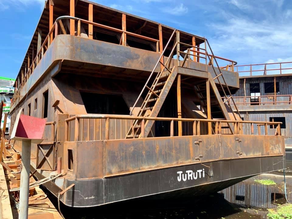 Estaleiro em Manaus vai concluir obras da UBS fluvial de Juruti em setembro