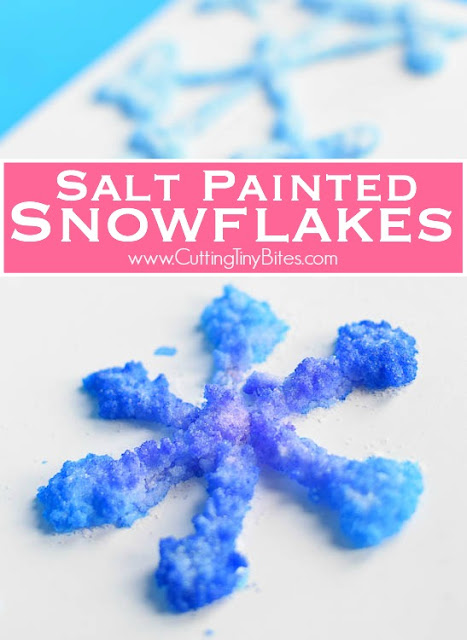 Salt Painted Snowflakes What Can We Do With Paper And Glue
