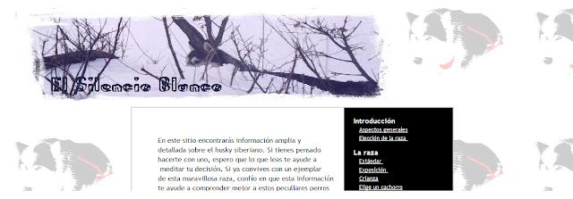 Portada Pagina Web El Silencio Blanco