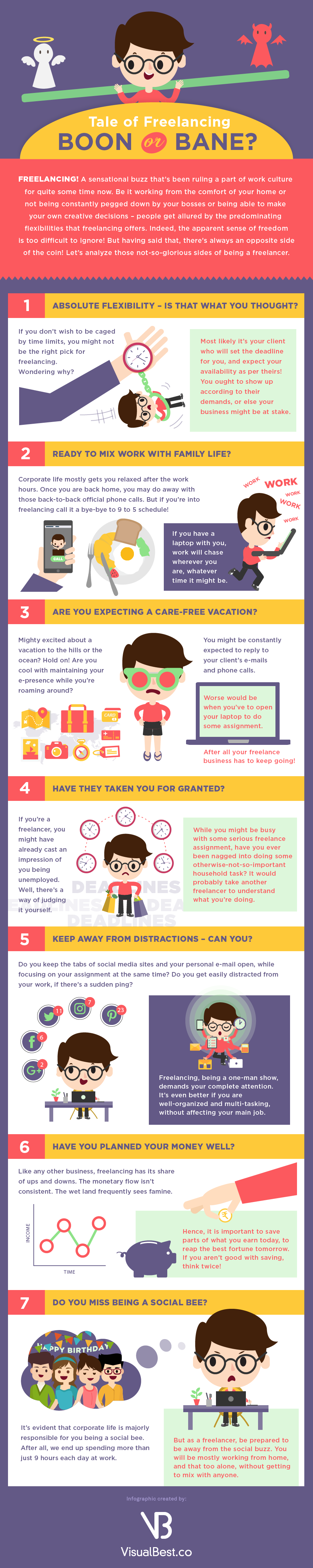 Tale of Freelancing: Boon or Bane? - #Infographic