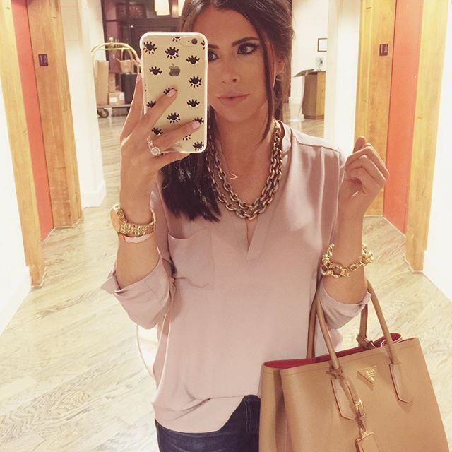 iphone 6 plus case sonix, tan prada bag, emily gemma, the sweetest thing blog, michael kors watch gold, lush tunic nordstrom