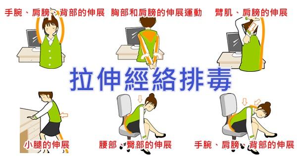 6個拉伸動作,拉伸經絡來排毒(打通背部督脈和膀胱經)