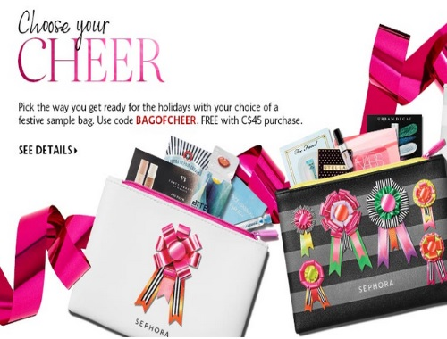 Sephora Free Holiday Sample Bag