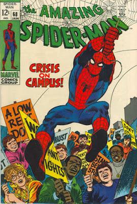 Amazing Spider-Man #68, crisis on campus