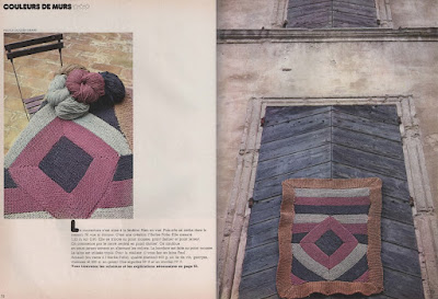 The Vintage Pattern Files: Free 1970's Knitting Pattern - Couleurs de murs Knitted Rug