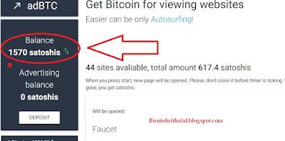Cari Bitcoin Dengan Mudah dan Gratis Bersama AdBTC 2017
