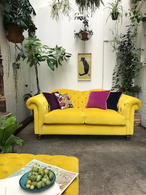 DFS, hello peagreen, interior design, interior design blogger, sofa