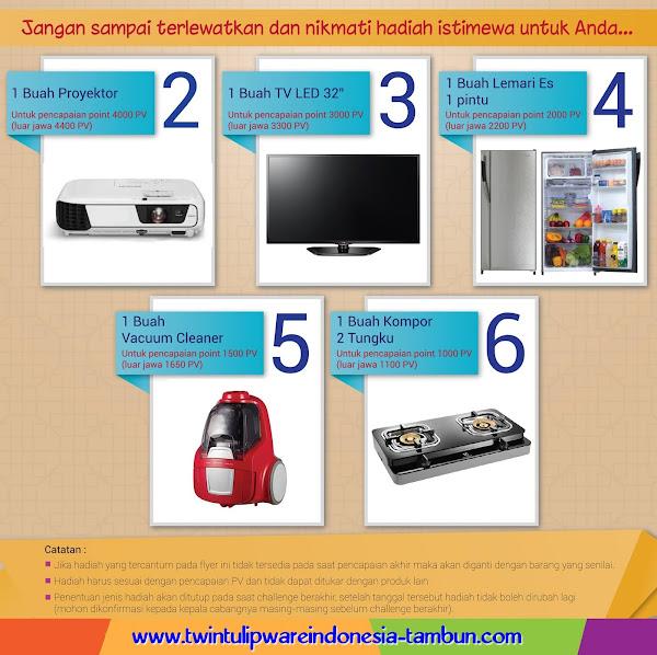 Proyektor, TV LED 32 inch, Lemari Es, Vacuum Cleaner, Kompor 2 Tungku
