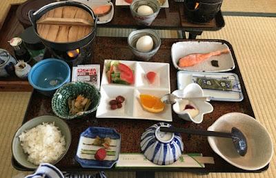 姥湯温泉の朝食