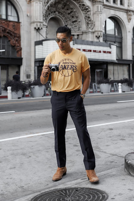 Leo Chan, Levitate Style Sports Team Style | T-Shirt with Suit Pants