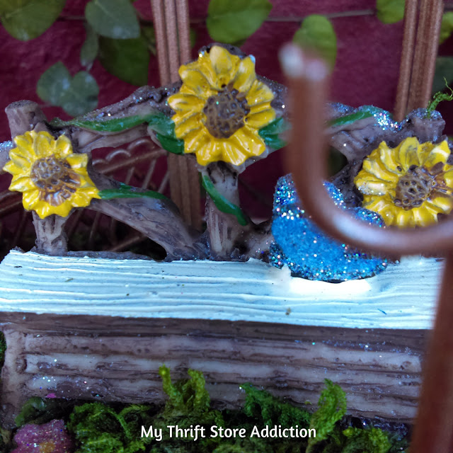enchanted fairy garden flower bed