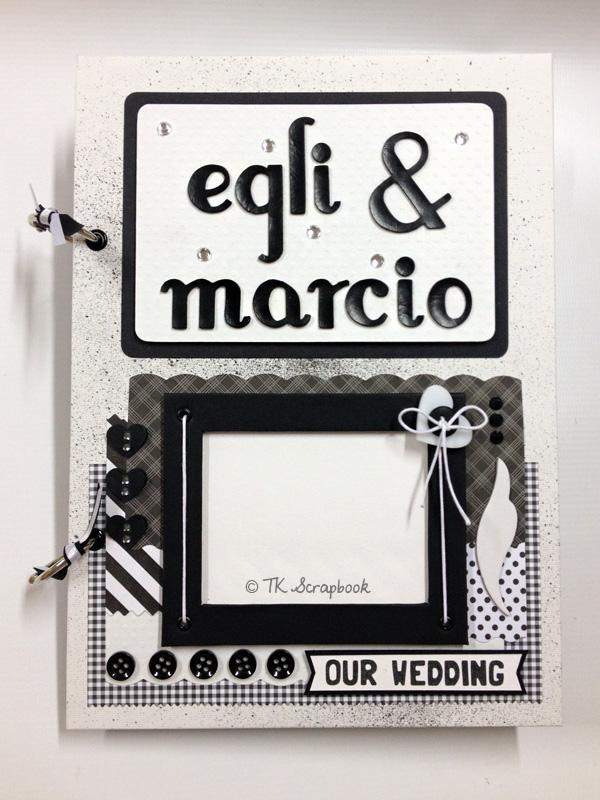 album de fotos scrapbook casamento