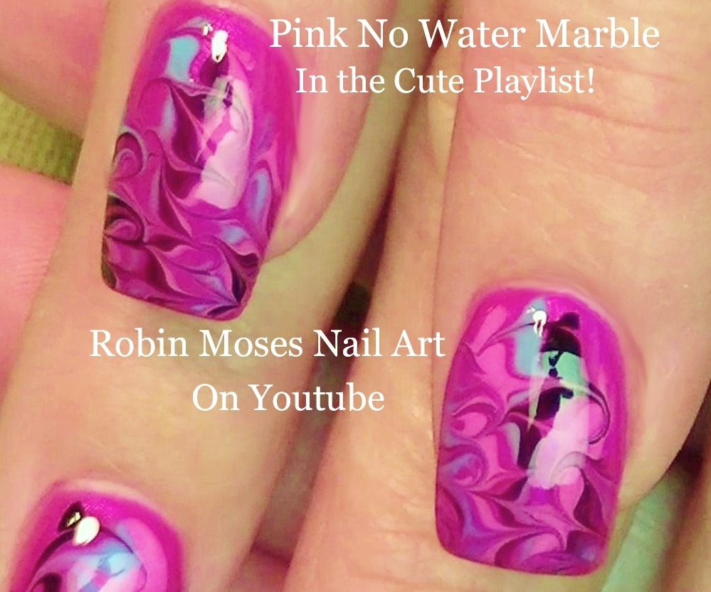 Nail art by robin moses up for monday hot pink no water marble nail art by robin moses up for monday hot pink no water marble nail art design that will pop with your new tan haha xoxo solutioingenieria Images