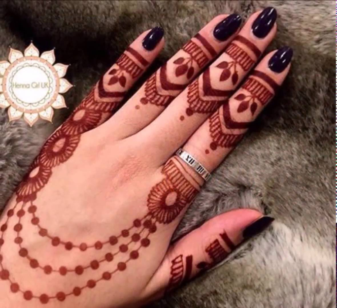 Mehndi Fingers Design : Top ring mehndi designs for fingers finger