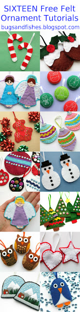 16 free felt Christmas ornament tutorials
