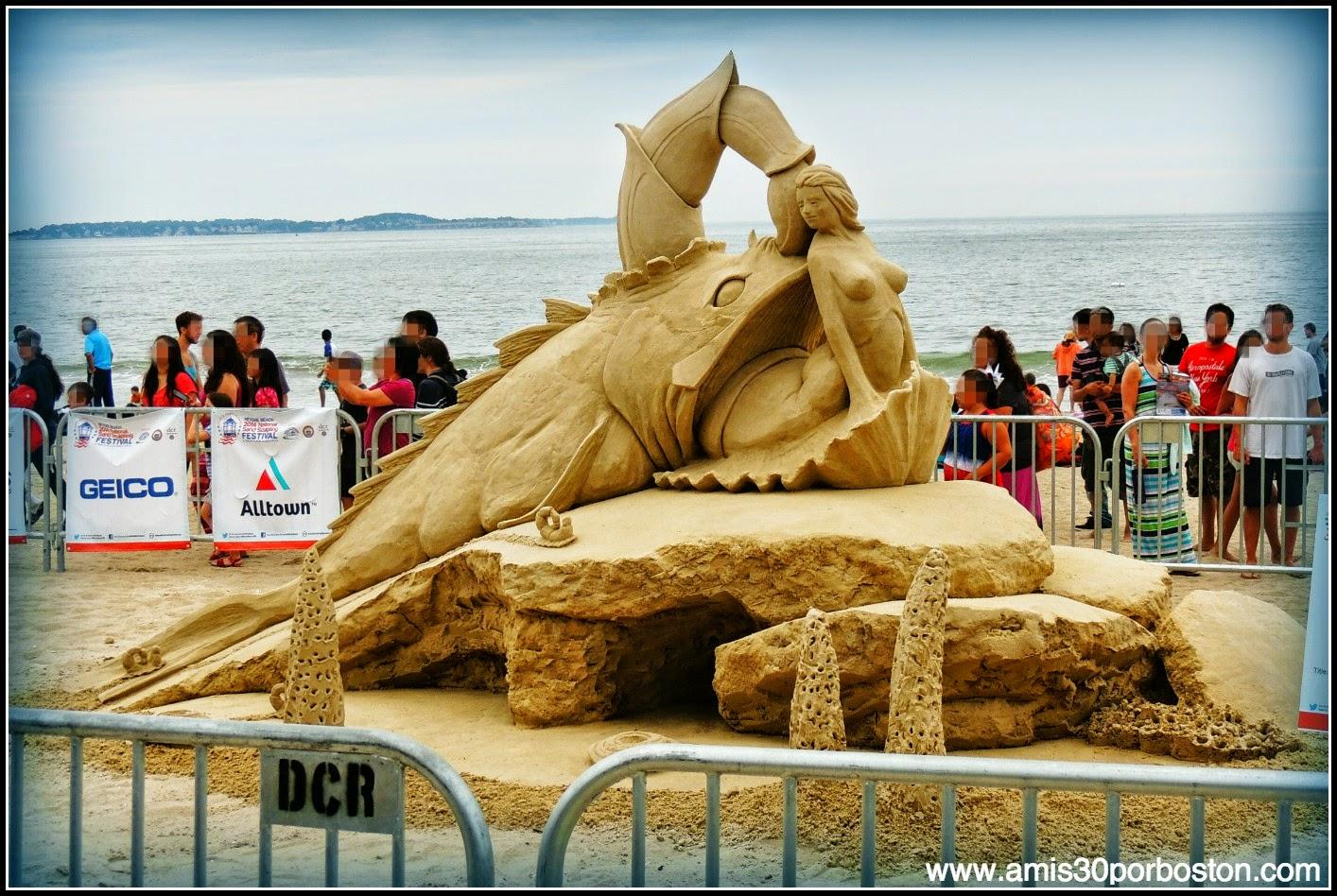 "Revere Beach 2014 National Sand Sculpting Festival: ""Sanil Trail"""
