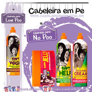 Shampoo (Low Poo), Condicionador, Creme para Pentear e Geléia (Liberados para Low Poo) - Soul Power Kids