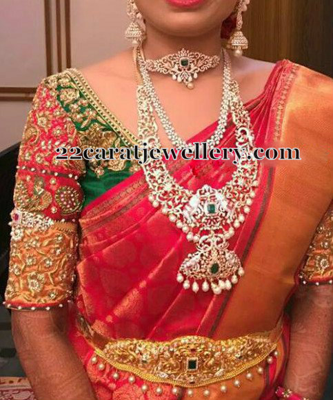 Bride in Diamond Elephant Haram