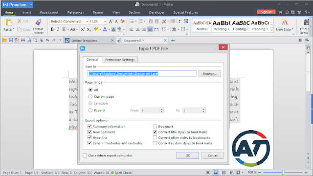 Process How to Create PDF Documents Using WPS Writer