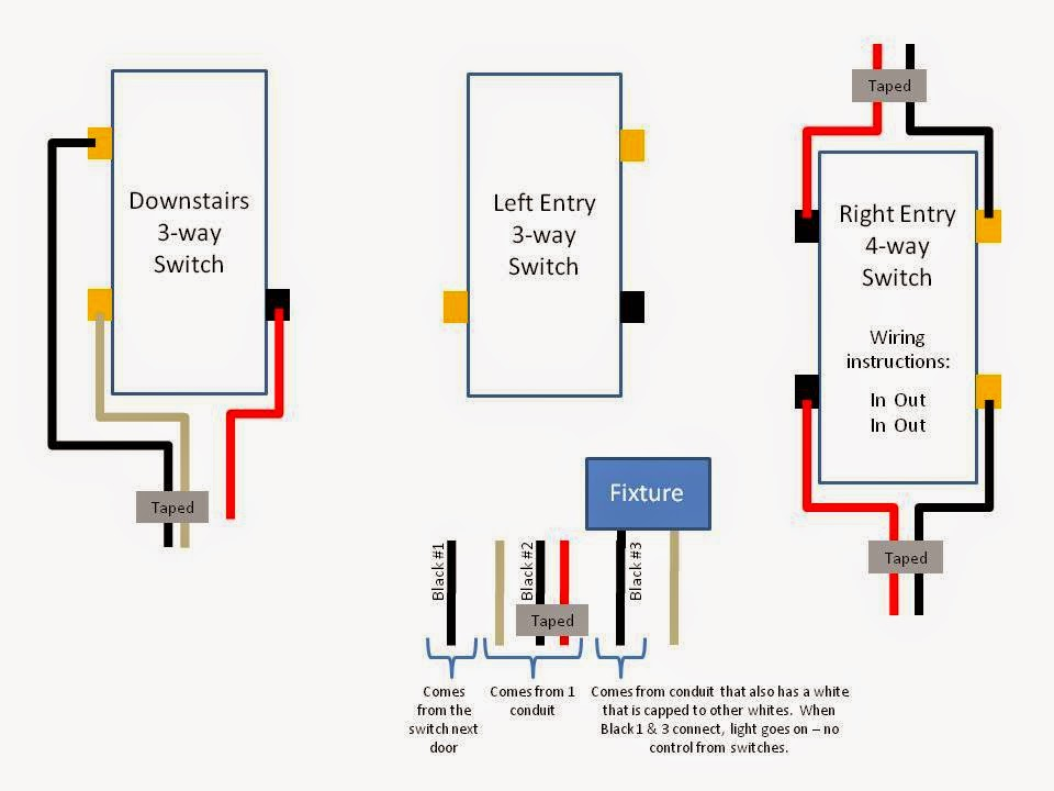 To A 3way Switch Proceeds To Light Fixture At End Of Circuit