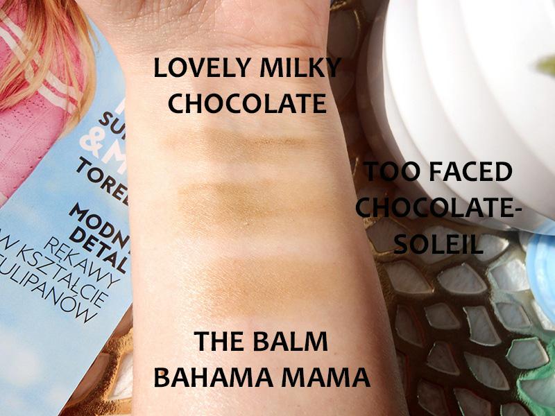 Too Faced Chocolate Soleil, porównanie, dupe