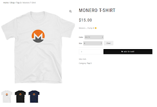 Camiseta Monero XMR 1