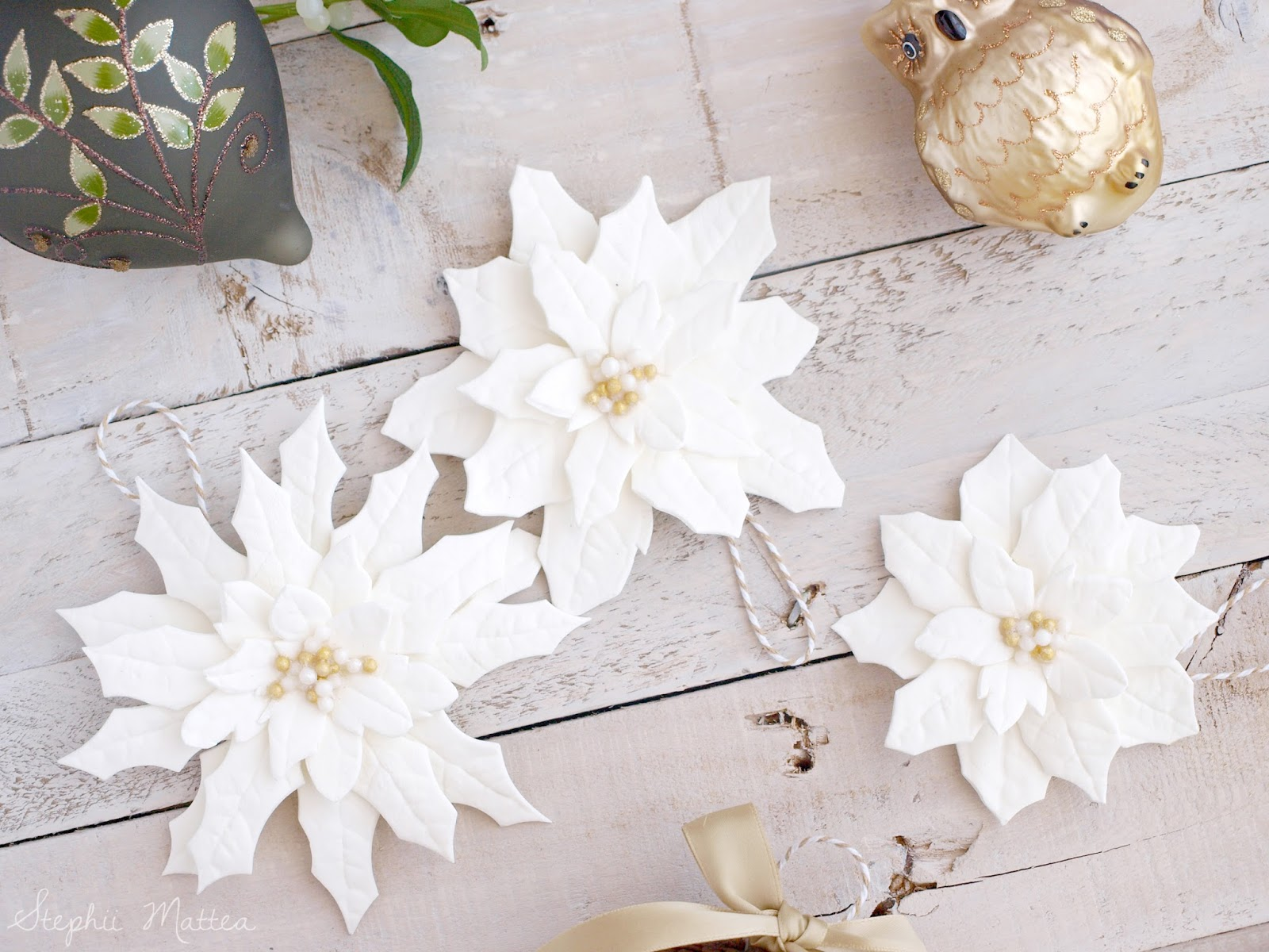 Blogmas Day 8 Diy Clay Poinsettia Ornaments Stephii Mattea