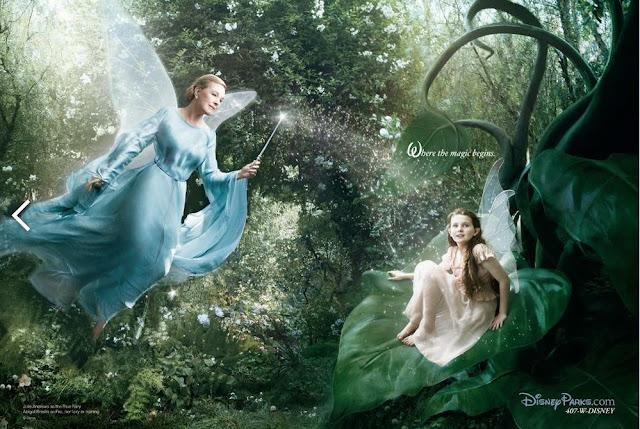 A atriz e cantora Abigail Breslin é Fira e a triz Julie Andrews é a Fada Azul.