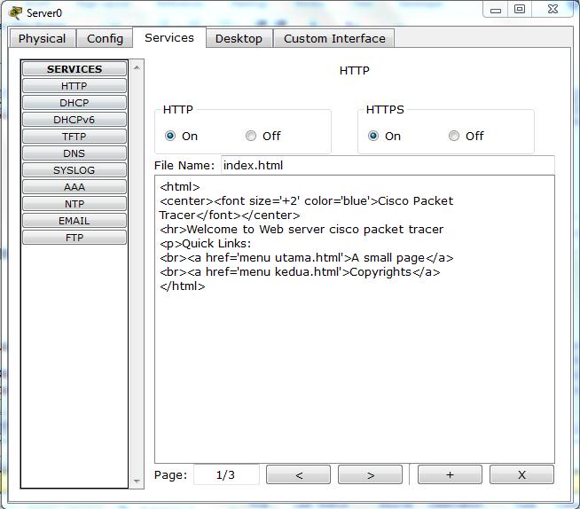Cara Konfigurasi Webserver Menggunakan Cisco Packet Tracer ...