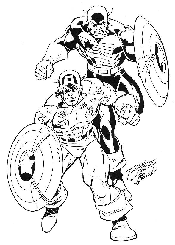 Captain America Coloring Pages Free Printable Coloring