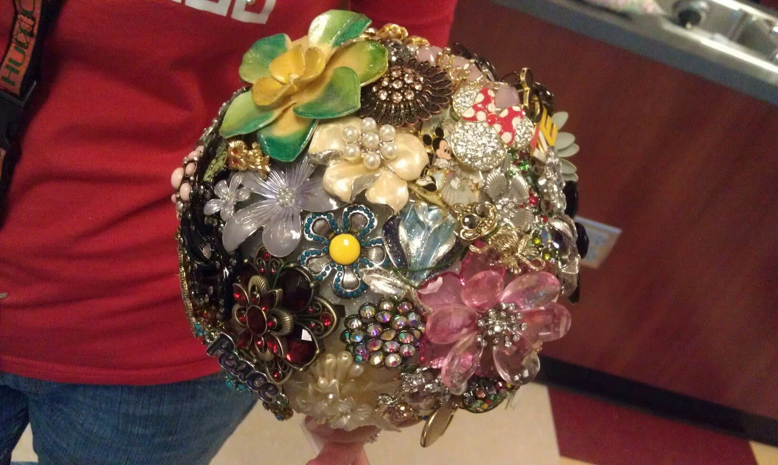 Brooch Bouquet Wedding Bouquet Roses Bling Crystals Rhinestones