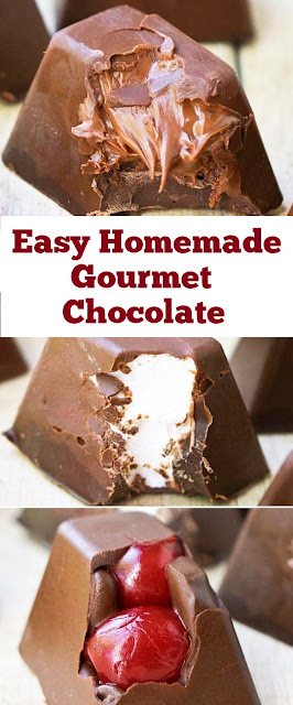 Easy Homemade Gourmet Chocolate #easydesserts #homemade #gourmet #chocolate
