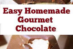 Easy Homemade Gourmet Chocolate #easydesserts #homemade #gourmet #chocolate