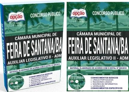Apostila Auxiliar Legislativo II Câmara de Feira de Santana BA