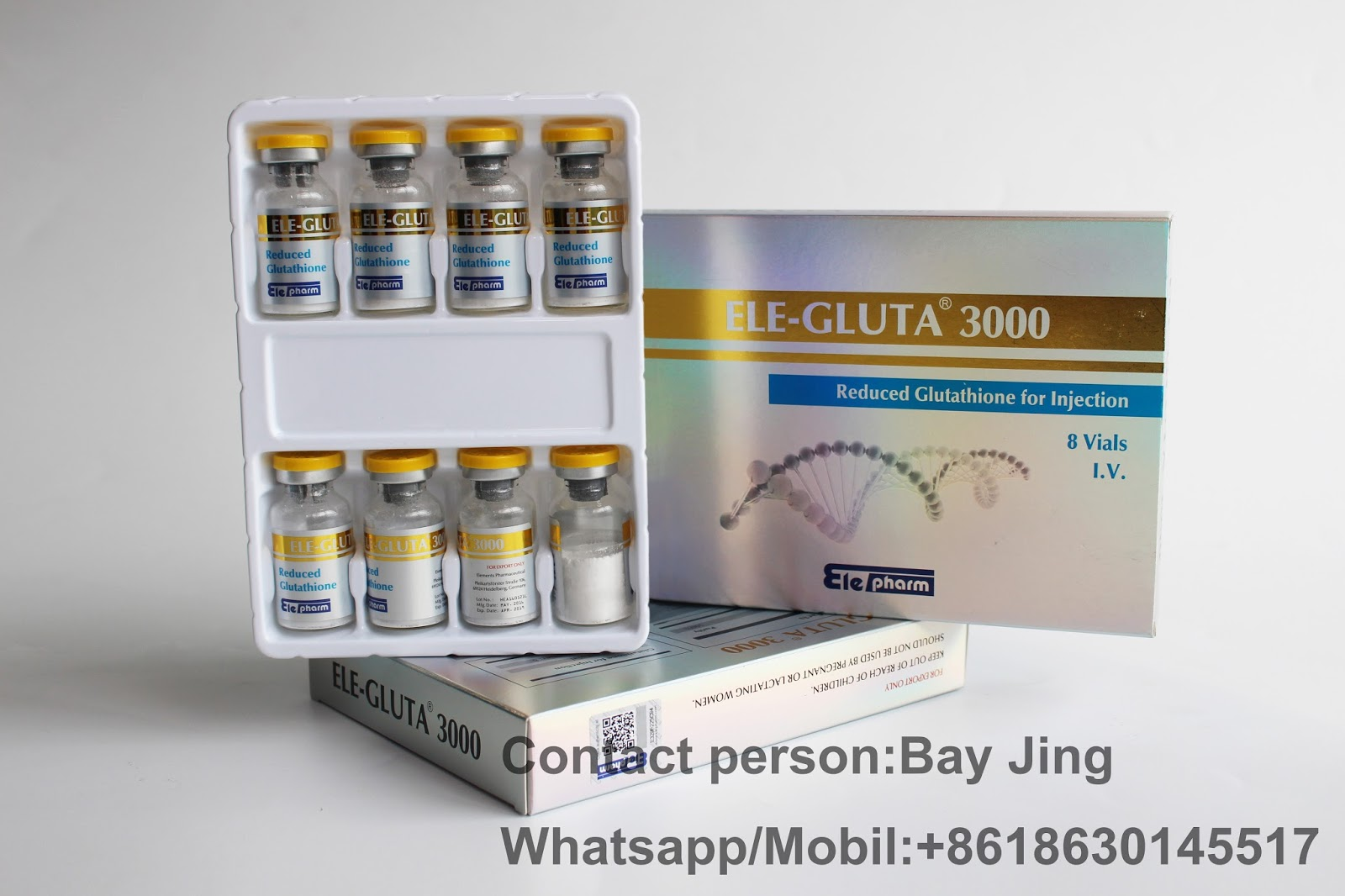 Skin Whitening Glutathione Injection Vc Original Bay Jing 8618630145517
