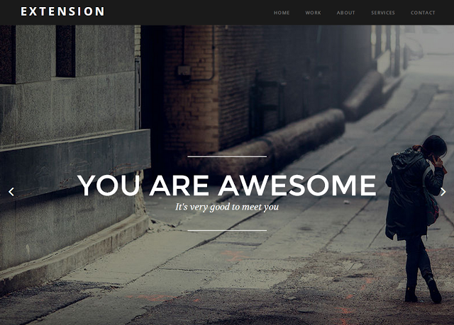 Extension Blogger Template