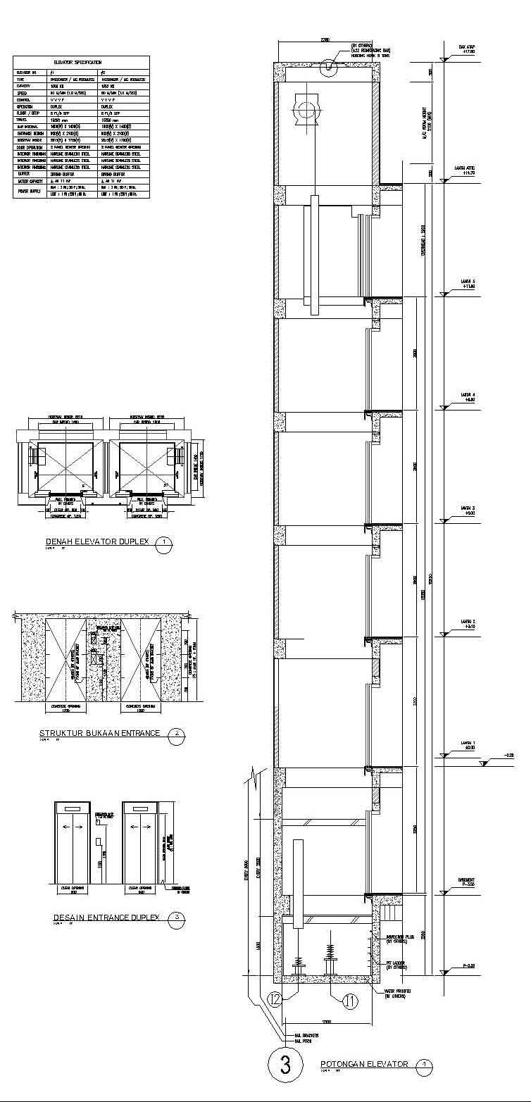 MEP Mekanikal Elektrikal Plambing: Elevator