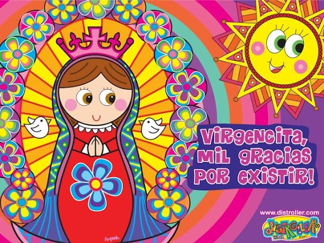 Dibujos de la Virgen de Guadalupe moderna