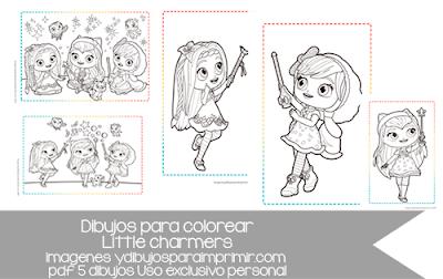 dibujos de little charmers para colorear