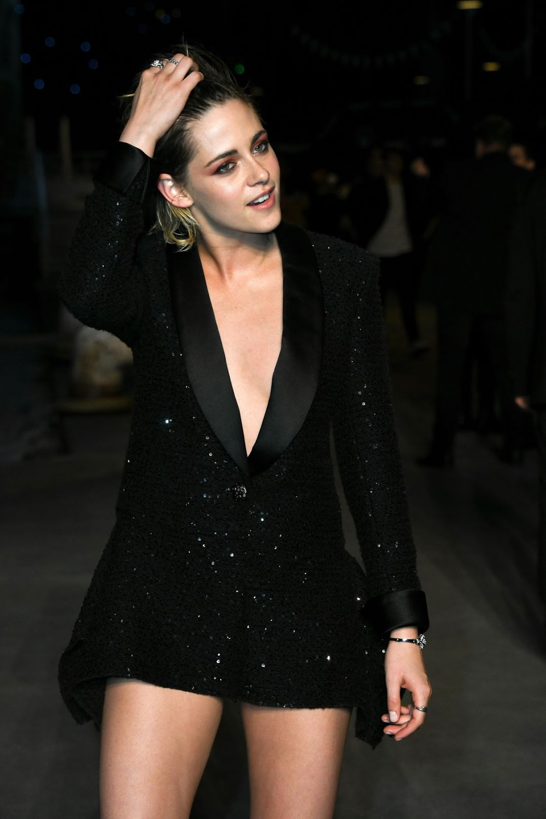 Kristen Stewart at the Chanel cruise 2019 runway show at the Grand Palais in Paris, France