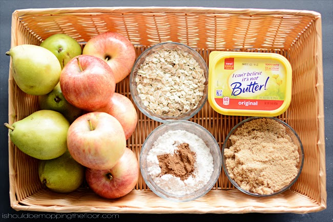 Pear and Apple Crisp | An easy-to-prepare fall dish that tastes and smells fantastic!