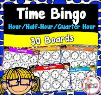 Time Bingo to the hour half hour and quarter hour