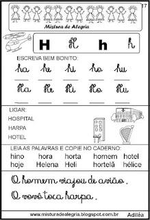 Livro famílias silábicas letra H